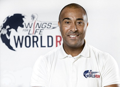 Colin Jackson poses for a portrait during the Wings for Life World Run Press Conference in Oporto, Portugal on January 29th, 2015